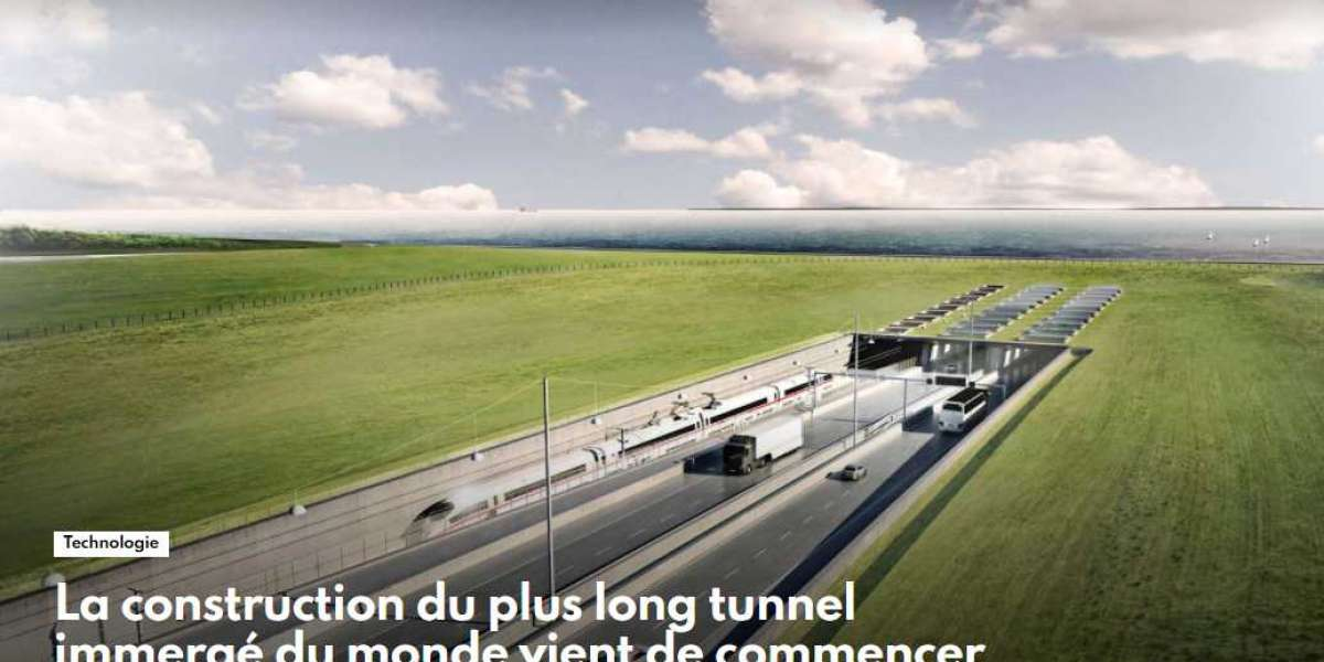 La construction du plus long tunnel immergé du monde vient de commencer